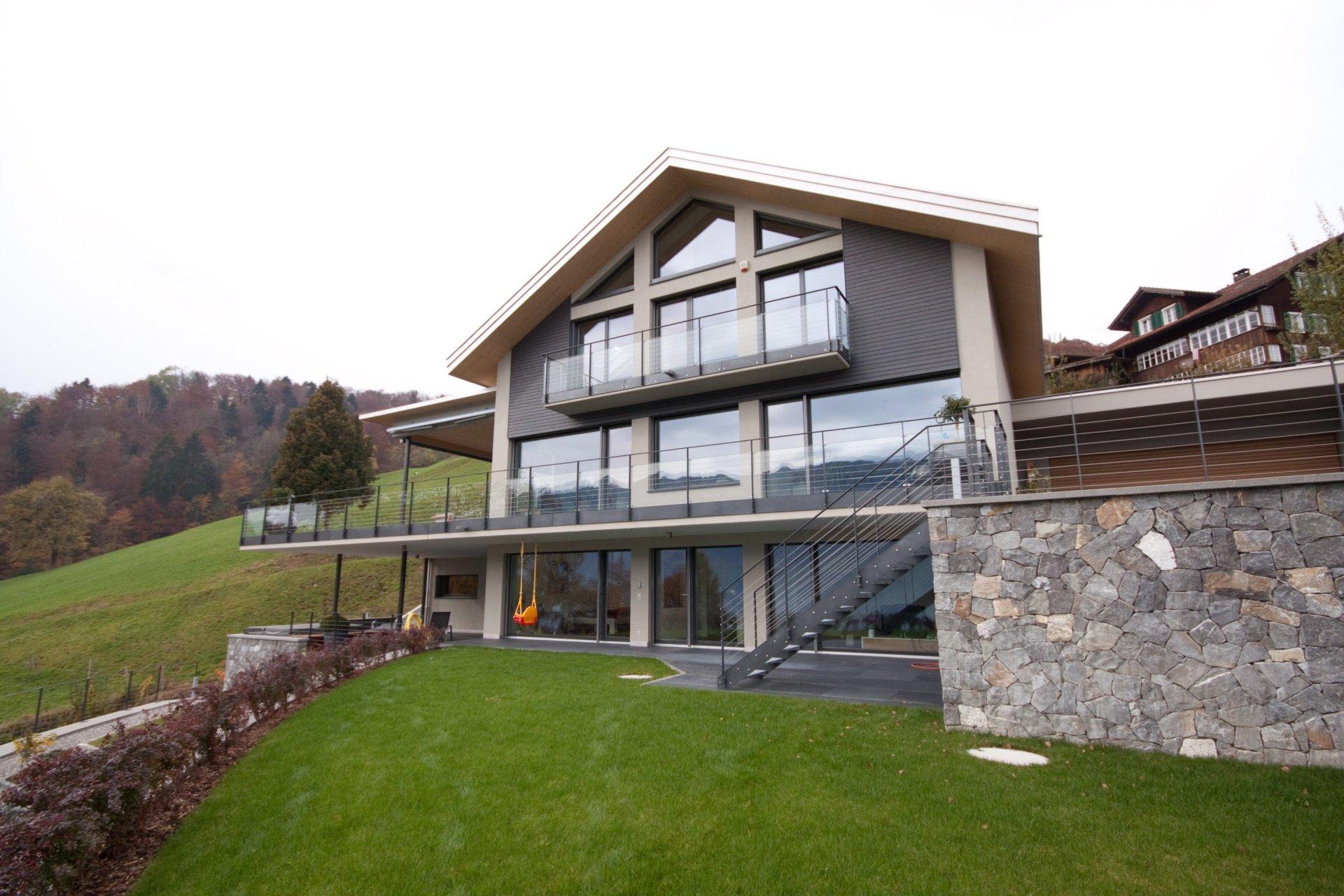 Holzbautechnik burch ag sarnen luzern neubau for Neubau einfamilienhaus